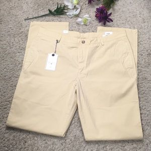 True Khaki Men's Yellow Relaxed Fit Pants Size W38